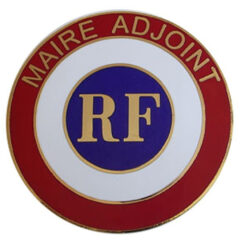 Cocarde de voiture Maire-Adjoint